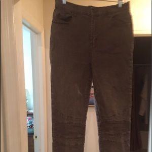 "DG2 brown ""Moto"" cargo 5 pocket jeans, 8 Tall"